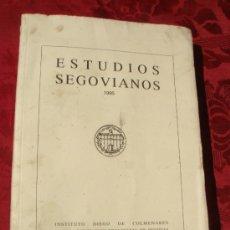 Livros em segunda mão: ESTUDIOS SEGOVIANOS. 1995. VER INDICE. Lote 38014637