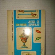 Libros de segunda mano: ANTIGUO LIBRO ** SOITARIOS ** JUEGOS ESPAÑOLES .EDIT. HERACLIO FOURNIER DEL AÑO 1983 .. Lote 38232363