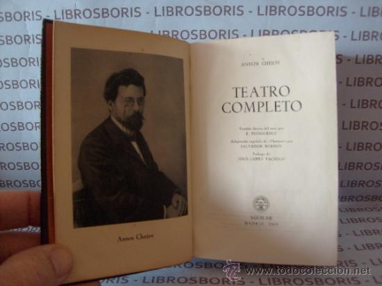 Libros de segunda mano: CHEJOV - TEATRO COMPLETO - AGUILAR - COLECCION JOYA. - Foto 4 - 38321410