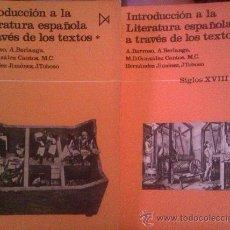 Libros de segunda mano: VV. AA: INTRODUCCIÓN A LA LITERATURA ESPAÑOLA A TRAVÉS DE LOS TEXTOS. /2 TOMOS/ MADRID, 1984. Lote 38328424