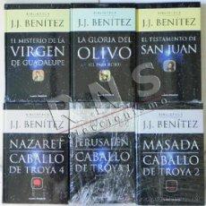 Libros de segunda mano: LOTE LIBROS JJ BENÍTEZ - NUEVOS PLANETA DEAGOSTINI MISTERIO DE LA VIRGEN CABALLO TROYA 1 2 4 LIBRO J. Lote 38502661