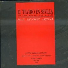 Libros de segunda mano: EL TEATRO EN SEVILLA EN LOS SIGLOS XVI Y XVII. . Lote 38526371