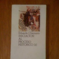 Libros de segunda mano: INICIACIÓN AL PROCESO HISTÓRICO (II), DE EDUARDO CHAMORRO. MIGUEL CASTELLOTE, 1972. Lote 38603796