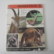 Second hand books - Reino Animal para niños.Editorial Ramon Sopena 1969. Cuaderno nº 5 . Mamiferos nº 5 - 38630387