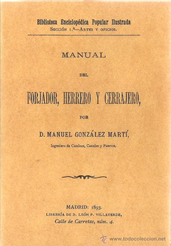 Manual del forjador, herrero y cerrajero / manu - Vendido