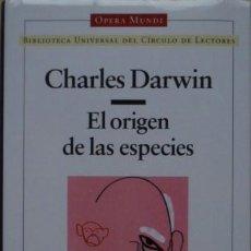 Libros de segunda mano: EL ORIGEN DE LAS ESPECIES DE CHARLES DARWIN. Lote 38749794