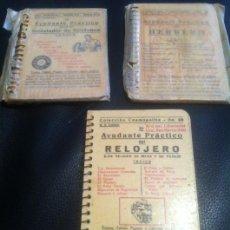 Libros de segunda mano: LIBRO AYUDANTE PRACTICO DEL HERRERO INSTALADOR DE TELEFONOS Y RELOJERO DE 1950 COLECCION COSMOPOLITA. Lote 38753381