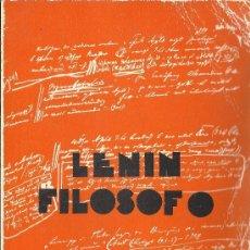"""Libros de segunda mano: ANTON PANNEKOEK : LENIN FILÓSOFO. (ED. ZERO, BIBLIOTECA """"PROMOCIÓN DEL PUEBLO"""", 1976) . Lote 38785579"""