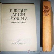 Libros de segunda mano: JARDIEL PONCELA, ENRIQUE. OBRAS ESCOGIDAS. Lote 38792925