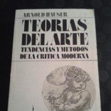 Libros de segunda mano: TEORÍAS DEL ARTE ARNOLD HAUSER EDICIONES GUADARRAMA AÑO 1975. Lote 38864795