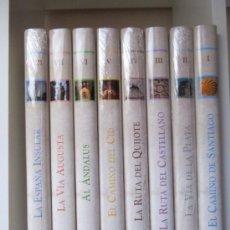 Libros de segunda mano: RUTAS DE ESPAÑA. JESÚS ÁVILA GRANADOS. 8 TOMOS.. Lote 38884772