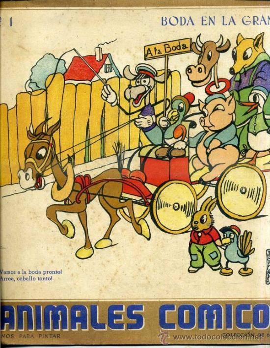 colección de 6 cuadernos para colorear - animal - Comprar en ...