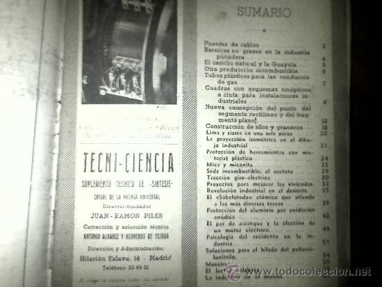 Libros de segunda mano: TECNI-CIENCIA, NUMERO 4. - Foto 6 - 33424885