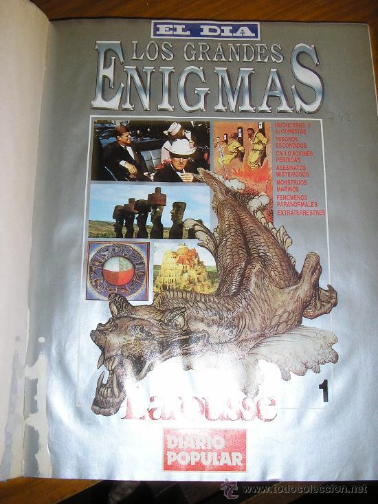 LOTE DE 16 EJEMPLARES ENCUADERNADOS DE LOS GRANDES ENIGMAS LAROUSSE - ARGENTINA - 1993 - RARO! (Libros de Segunda Mano - Parapsicología y Esoterismo - Otros)