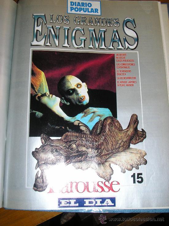 Libros de segunda mano: LOTE DE 16 EJEMPLARES ENCUADERNADOS DE LOS GRANDES ENIGMAS LAROUSSE - Argentina - 1993 - RARO! - Foto 14 - 38914129