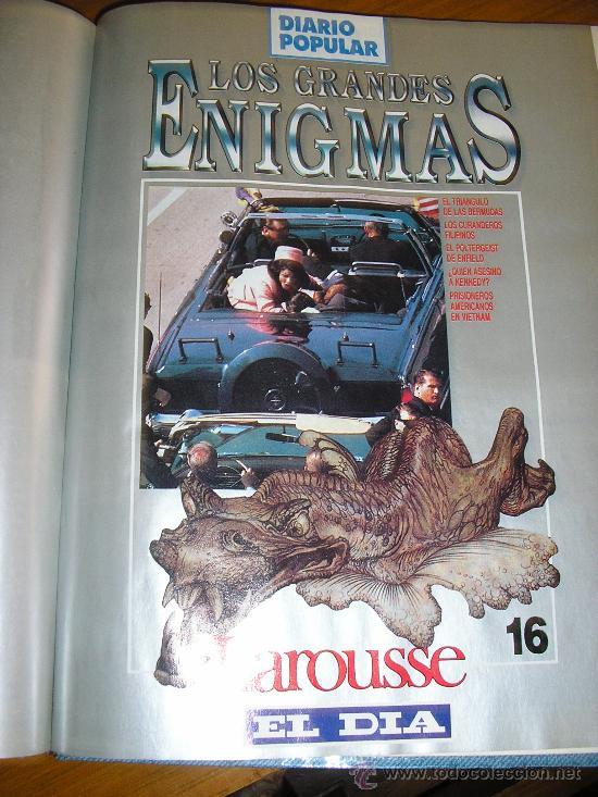Libros de segunda mano: LOTE DE 16 EJEMPLARES ENCUADERNADOS DE LOS GRANDES ENIGMAS LAROUSSE - Argentina - 1993 - RARO! - Foto 15 - 38914129