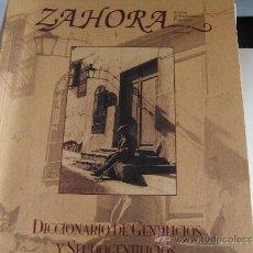 Libros de segunda mano: ZAHORA. Nº 42 DICCIONARIO DE GENTILICIOS Y SEUDOGENTILICIOS DE LA PROVINCIA DE ALBACETE.. Lote 38923134
