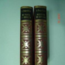 """Libros de segunda mano: LIBRO """"HISTORIA DE ESPAÑA"""" DE JOSÉ REPOLLÉS AGUILAR (TOMOS I Y II) ED. PETRONIO 1972.. Lote 38966236"""