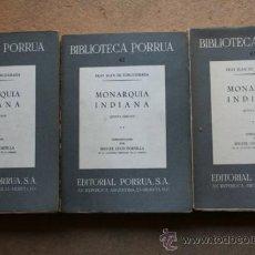 Libros de segunda mano: MONARQUÍA INDIANA. INTRODUCCIÓN POR MIGUEL LEÓN PORTILLA. TORQUEMADA (FRAY JUAN DE). Lote 38976271