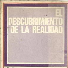Libros de segunda mano: EL DESCUBRIMIENTO DE LA REALIDAD. MANUEL MANRIQUE. EDITORIAL AYUSO. MADRID. 1971. Lote 39202201