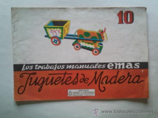 cuaderno los trabajos manuales emas juguetes de madera pginas ao