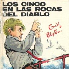Libros de segunda mano: 1 LIBRO TAPA DURA AÑO 1971 - ENYD BLYTON ( JUVENTUD ) - Nº 43 - LOS CINCO EN LAS ROCAS DEL DIABLO. Lote 39393671