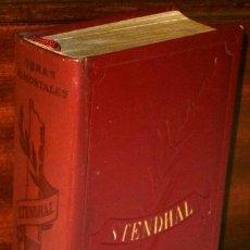 Libros de segunda mano: OBRAS INMORTALES POR STENDHAL DE EDAF EN MADRID 1966. Lote 39534449
