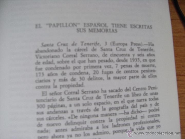 Libros de segunda mano: EVASION - VICTORIANO CORRAL (JULIAN EL LOCO) ESPECIALISTA EN FUGAS - Foto 4 - 39552704