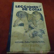 Libros de segunda mano: LECCIONES DE COSAS - EZEQUIEL SOLANA. Lote 39585361