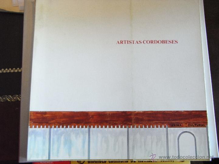 ARTISTAS CORDOBESES. (Libros de Segunda Mano - Bellas artes, ocio y coleccionismo - Otros)
