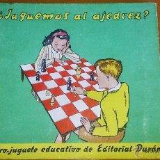 Libros de segunda mano: ¿JUGUEMOS AL AJEDREZ? (1947). Lote 39682090