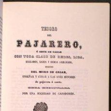 Libros de segunda mano: TESORO DE LA CACERIA ( DEL PAJARERO, ESCOPETA, PERROS DE CAZA, CAZADOR Y DE LA MONTERÍA). Lote 39691551