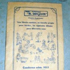 Libros de segunda mano: CUADERNILLO AÑOS 30-40 CON 12 DIBUJOS PLANCHABLES EL DIBUJANTE-3212-MUÑEQUITOS. Lote 39707030