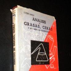 Libros de segunda mano: ANÁLISIS DE GRASAS, CERAS, Y SUS MEZCLAS COMERCIALES / OTERO ALLENDE, E. Lote 39718699