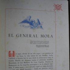 Libros de segunda mano: CRUZ DE SAN FERNANDO AL GENERAL MOLA GLOSA DE RICARDO LEON.PG 109-117. Lote 39746272