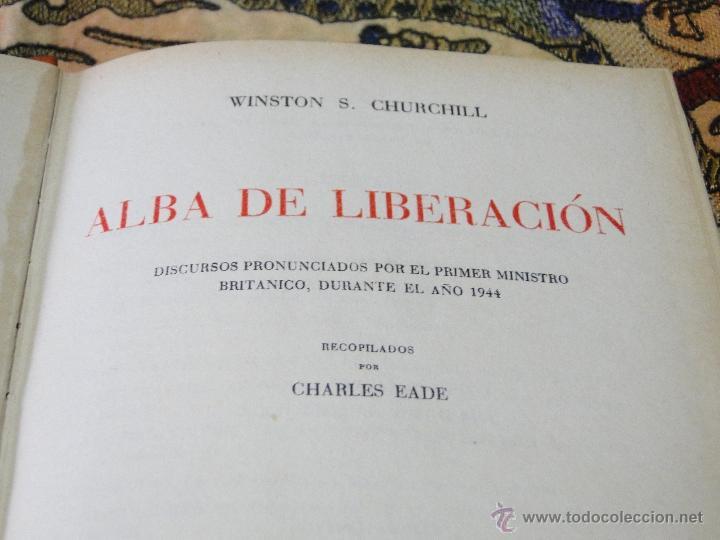 Libros de segunda mano: ALBA DE LIBERACION.-WINSTON S. CHURCHILL - Foto 2 - 39766225