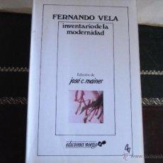Libros de segunda mano: INVENTARIO DE LA MODERNIDAD.. Lote 39811624