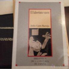 Libros de segunda mano: EL LABERINTO VASCO. J. CARO BAROJA.. Lote 39892021