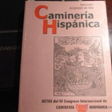 Libros de segunda mano: CAMINERÍA HISPÁNICA. ACTAS DEL III CONGRESO INTERNACIONAL DE CAMINERÍA HISPÁNICA.. Lote 39906349