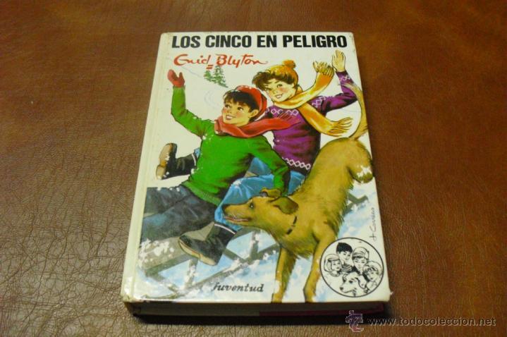 LIBRO:Nº 38 LOS CINCO EN PELIGRO DE ENID BLYTON AÑO 1986 (Libros de Segunda Mano - Literatura Infantil y Juvenil - Otros)