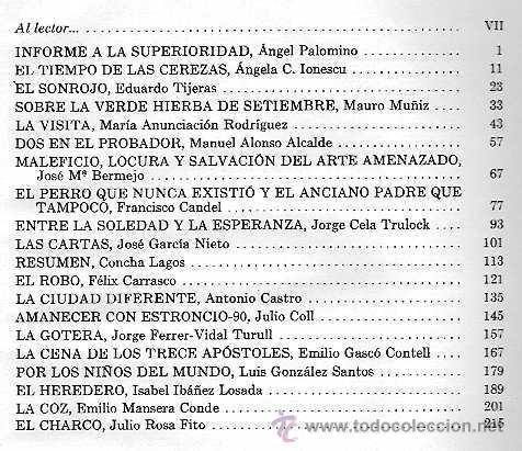 Libros de segunda mano: VARIOS AUTORES - INFORME A LA SUPERIORIDAD Y 19 CUENTOS MÁS (VI CONCURSO HUCHA DE ORO) - 1971 - Foto 3 - 40036603