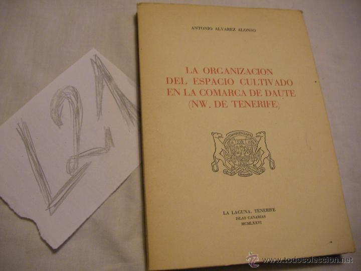LA ORGANIZACION DEL ESPACIO CULTIVADO EN LA COMARCA DE DAUTE - ANTONIO ALVAREZ ALONSO (Libros de Segunda Mano - Historia - Otros)