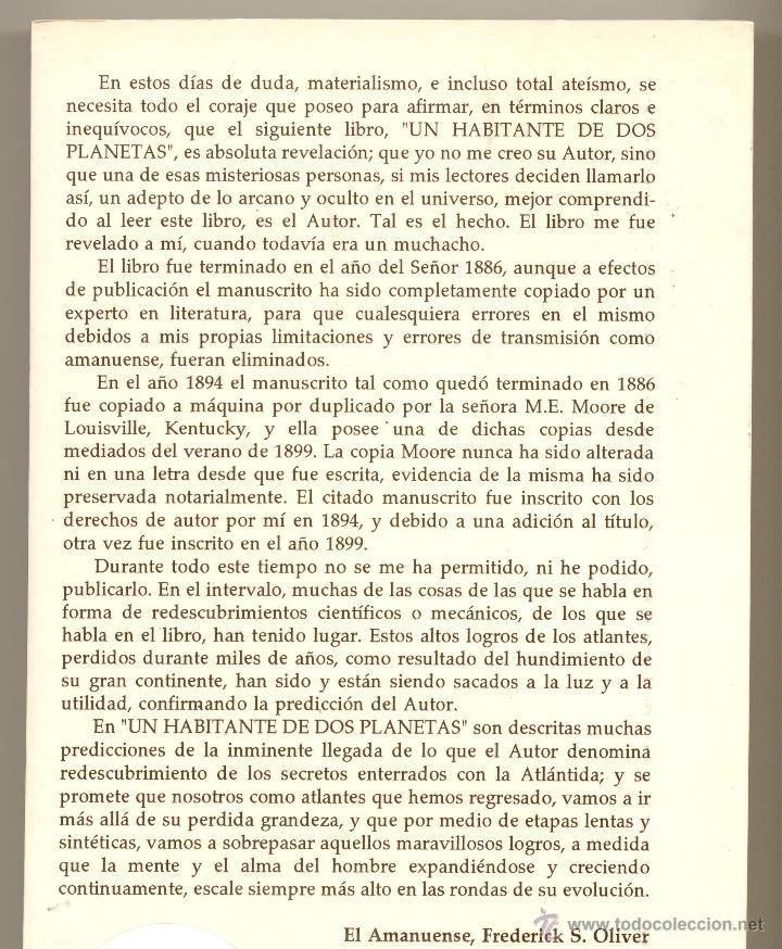 Libros de segunda mano: UN HABITANTE DE DOS PLANETAS, O LA BIFURCACIÓN DEL CAMINO -Phylos el Tibetano- - Foto 2 - 148764134