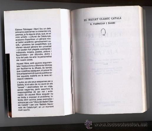 Libros de segunda mano: EL BALLET CLÀSSIC CATALÀ - ESTEVE FABREGAS BARRI - 1ª EDICIÓ 1984 - Foto 2 - 40257536
