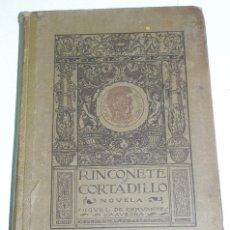 Libros de segunda mano: ANTIGUO LIBRO RINCONETE Y CORTADILLO, POR MIGUEL DE CERVANTES SAAVEDRA, AÑO 1916, MADRID, 1916. 96 P. Lote 38284027