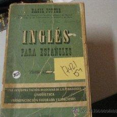 Libros de segunda mano: INGLES PARA ESPAÑOLES. CURSO ELEMENTALBASIC POTTER19592,00. Lote 40305534