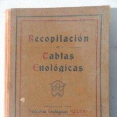 Libros de segunda mano: RECOPILACIÓN TABLAS ENOLOGICAS. AÑO 1944. PRODUCTOS ENOLOGICOS GILLA.. Lote 40317787