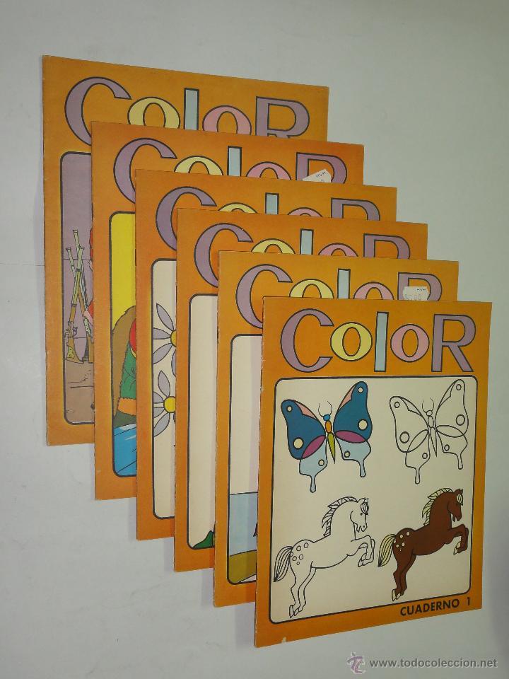 lote de 6 cuadernos para colorear - editorial s - Comprar en ...