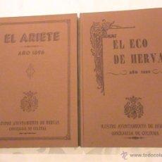 Libros de segunda mano: EDICIÓN FACSIMIL DE EL ECO DE HERVAS 1895 Y EL ARIETE 1896. Lote 40389521