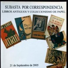 Libros de segunda mano: LIBROS ANTIGUOS - COLECCIONISMO DE PAPEL - SUBASTA POR CORRESPONDENCIA - SOLER Y LLACH, SEPTIEMBRE 2. Lote 40543708
